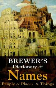 Cover of: Brewer's Dictionary of Names (Hutchinson Reference Classics)