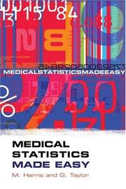 Cover of: MEDICAL STATISTICS MADE EASY |