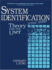 Cover of: System identification | Lennart Ljung