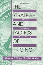 Cover of: Strategy and Tactics of Pricing | Thomas T. Nagle