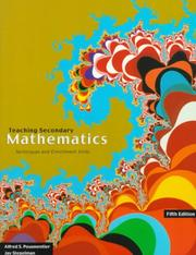 Cover of: Teaching Secondary School Mathematics | Alfred S. Posamentier
