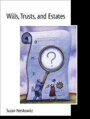 Cover of: Wills, trusts, and estates