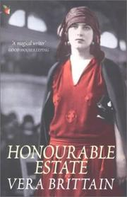 Cover of: Honourable Estate