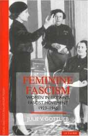 Cover of: Feminine fascism | Julie V. Gottlieb