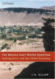 Cover of: Middle East water question | J. A. Allan