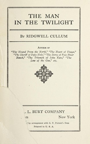 The man in the twilight by Ridgwell Cullum