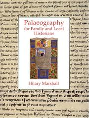 Cover of: Palaeography for Family and Local Historians | Hilary Marshall