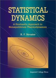 Cover of: Statistical dynamics