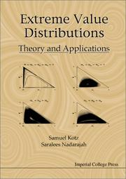 Cover of: Extreme Value Distributions: Theory and Applications