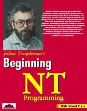 Cover of: Beginning Windows NT programming