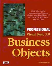 Cover of: Professional Visual Basic 5.0 business objects