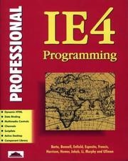 Cover of: Professional IE4 programming | Mike Barta ... [et al.].