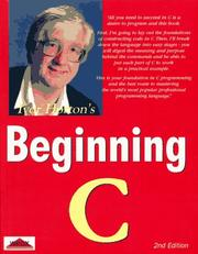 Cover of: Beginning C: from novice to professional