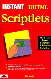Cover of: Instant DHTML scriptlets