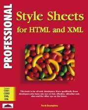 Cover of: Professional Stylesheets for Html and Xml (Professional)