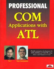 Cover of: Professional COM applications with ATL