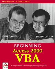 Cover of: Beginning Access 2000 VBA (with CD-ROM) | David Sussman