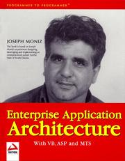 Cover of: Enterprise Application Architecture with VB, ASP and MTS
