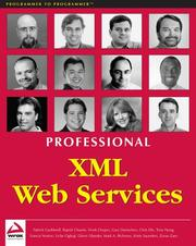 Cover of: Professional XML Web Services
