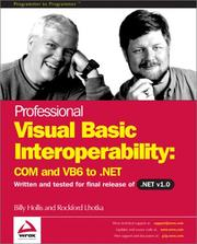 Cover of: Professional Visual Basic Interoperability - COM and VB6 to .NET