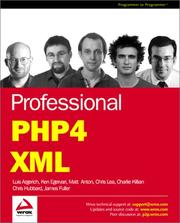 Cover of: Professional PHP4 XML | Luis Argerich