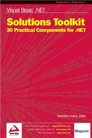 Cover of: Visual Basic .NET Solutions Toolkit: 30 Practical Components for .NET