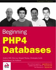 Cover of: Beginning PHP4 databases