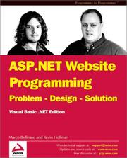 ASP.NET website programming by Marco Bellinaso