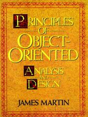 Cover of: Principles of object-oriented analysis and design