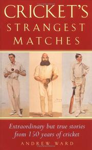 Cover of: Cricket's Strangest Matches