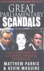 Cover of: Great Parliamontary Scandals