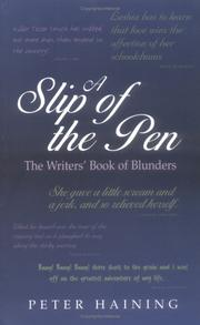 Cover of: A slip of the pen: the writer's book of blunders