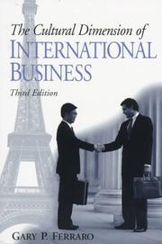 Cover of: Cultural Dimension of International Business, The | Gary P. Ferraro