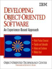 Cover of: Developing object-oriented software |