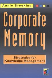 Cover of: Corporate memory