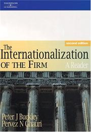 Cover of: The Internationalization of the Firm | Peter J. Buckley