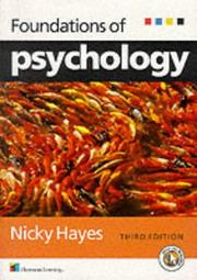 Cover of: Foundations of psychology