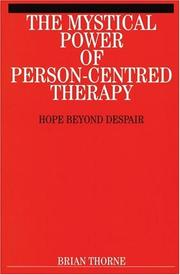 Cover of: The Mystical Path of Person-Centred Therapy