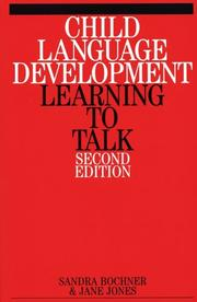 Cover of: Child language development |