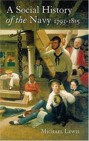 Cover of: A Social History of the Navy 1793-1815