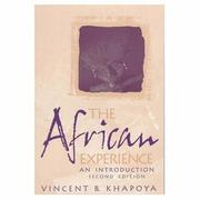 Cover of: The African Experience | Vincent B. Khapoya