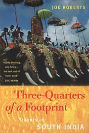 Cover of: Three-quarters of a footprint