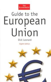 Cover of: Guide to the European Union | Dick Leonard