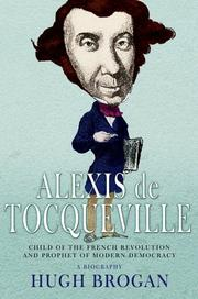 Cover of: ALEXIS DE TOCQUEVILLE