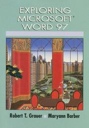 Cover of: Exploring Microsoft Word 97 | Robert T. Grauer