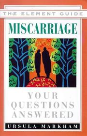 Cover of: Miscarriage