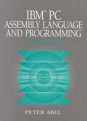 Cover of: IBM PC assembly language and programming | Abel, Peter