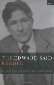 Cover of: The Edward Said reader