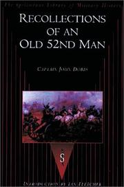 Cover of: Recollections of an Old 52nd Man (Spellmount Library of Military History)