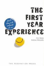 Cover of: The First Year Experience